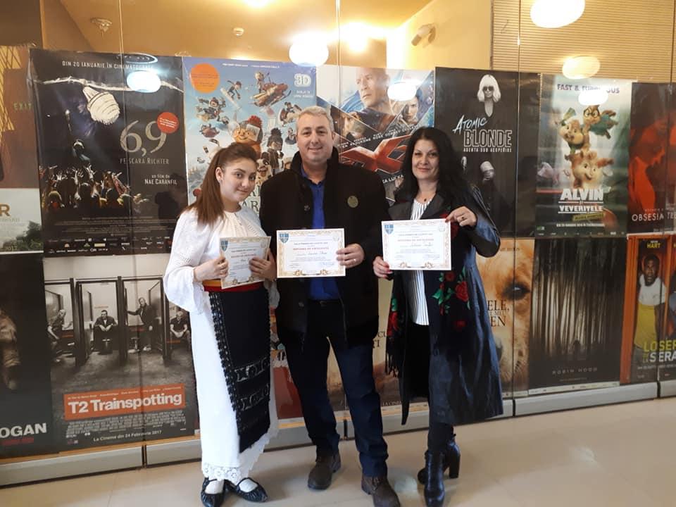 Solista Alina Mihai, alături de coregrafii Lucian Stroe și Liliana Taifas