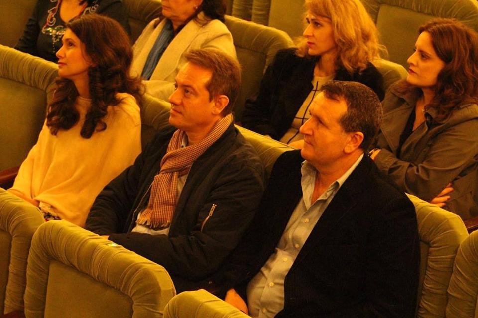 Edilul Liviu Radu, participant la deschiderea proiectului la Caracal, alături de city-managerul orașului, Cristina Pencu și Toma Octavian Danut- șeful Serviciului Programe Strategii de Dezvoltare